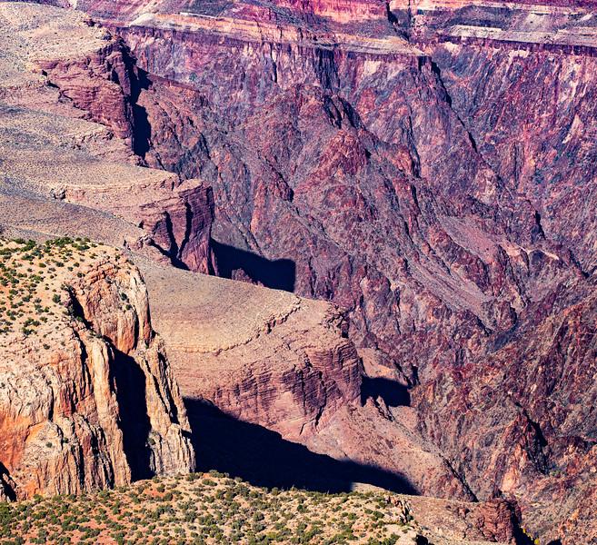 Geology in Grand Canyon National Park, Coconino County, Arizona