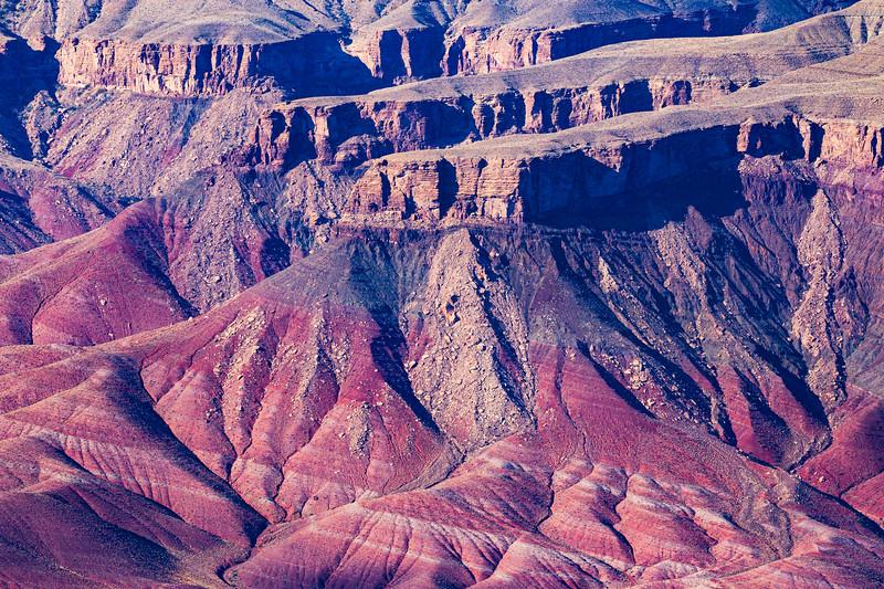 Cliffs and canyons above the Colorado River, Grand Canyon National Park, Coconino County, Arizona