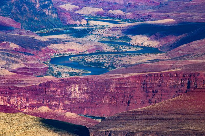 Winding Colorado River, Grand Canyon National Park, Coconino County, Arizona