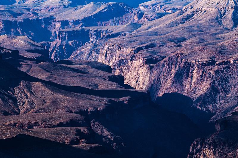 Looking into Grand Canyon National Park, Coconino County, Arizona