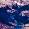 Cloud shadows on Colorado River, Grand Canyon National Park, Coconino County, Arizona
