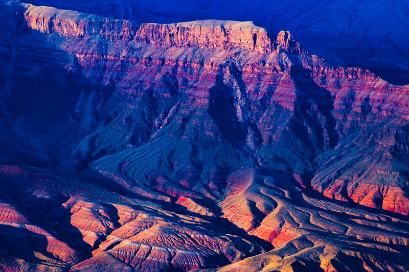 Sunset light, Grand Canyon National Park, Coconino County, Arizona