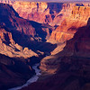 Colorado River cutting through cliffs in Grand Canyon National Park, Coconino County, Arizona