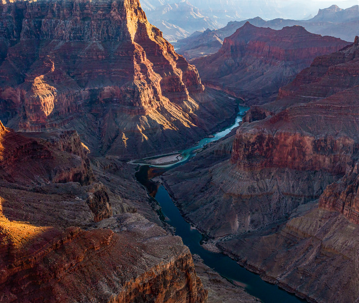 "Sunset at ""The Confluence"" of the Colorado and Little Colorado Rivers, Grand Canyon, Coconino County, Arizona"