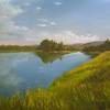 Oxbow Bend - reworked 2007<br /> 16 x 20<br /> Oil on canvas