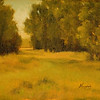 Stand in the Pasture<br /> 5 x 7<br /> Oil on canvas panel