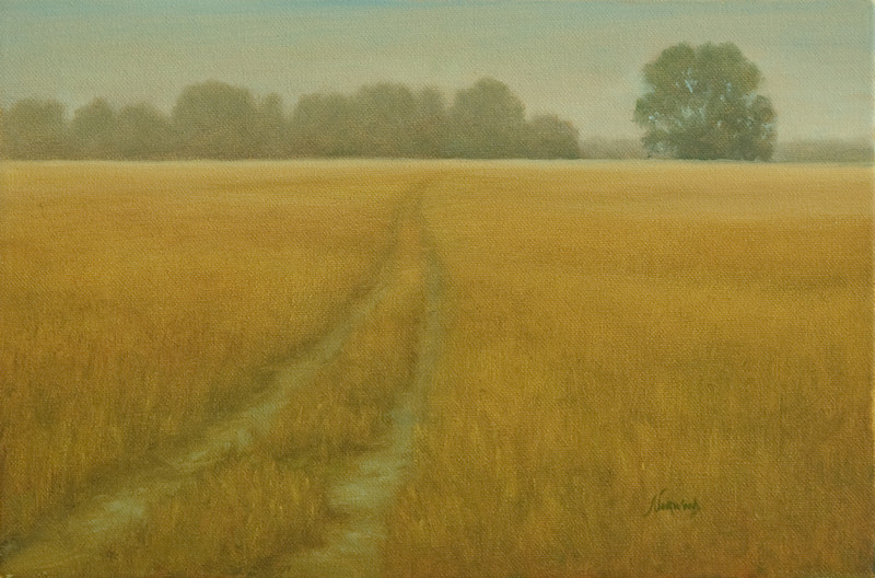 Morning Haze on the Gros Ventre<br /> 8x12<br /> Oil on canvas