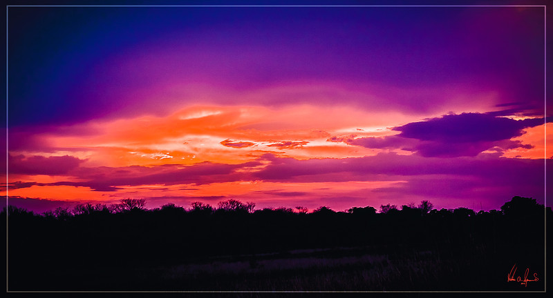 """""""SUNSET ON THE SAVANNA"""" - SUNSET IN KAFUE NATIONAL PARK IN ZAMBIA, AFRICA"""