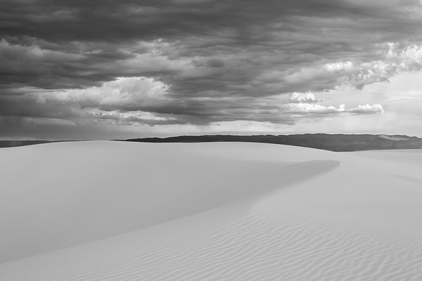 Knife-Edge Dune With Storm