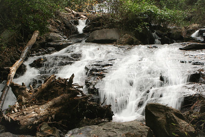 A part of Amicalola Falls at Amicalola State Park, GA