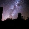 Ancestral Pueblo astronomical observatory, Milky Way Galaxy, Utah