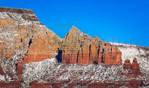 Ship Rock in Snow