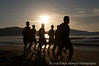 Mexican Army squad runs the Rincon de Guayabitos beach each afternoon. Approximately six miles of soft and hard sand. Rincon de Guayabitos is a beautiful tourist destination 40 miles north of Puerto Vallarta.
