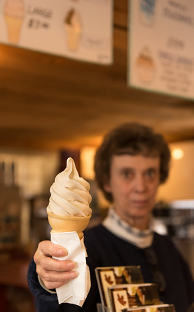 Cheryl Peterson serves up a Maple Creemee.