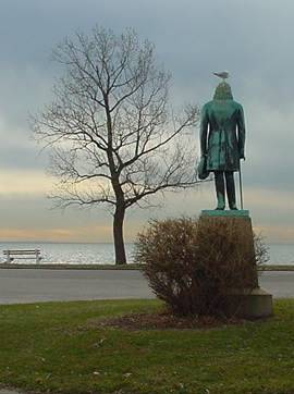 ELIAS HOWE STATUE .. SEASIDE PARK . . .BRIDGEPORT, CT