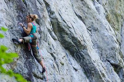 Female climber rockin it!
