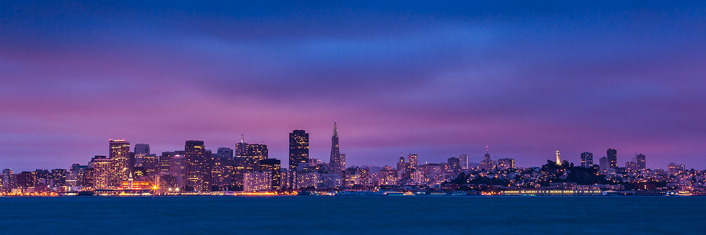 Twilight over San Francisco