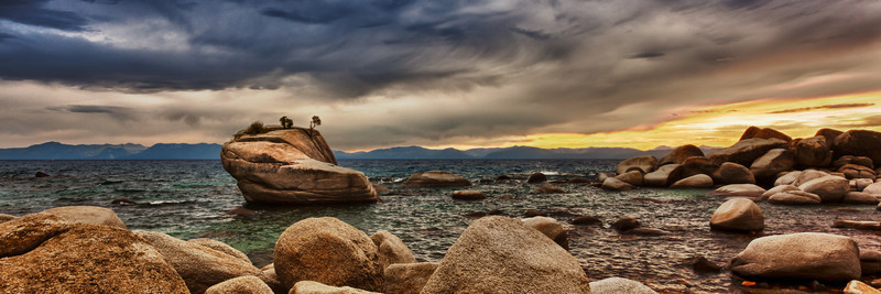 Sunset over Bonsai Rock