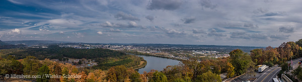 Looking over Chattanooga from Lookout Mountain