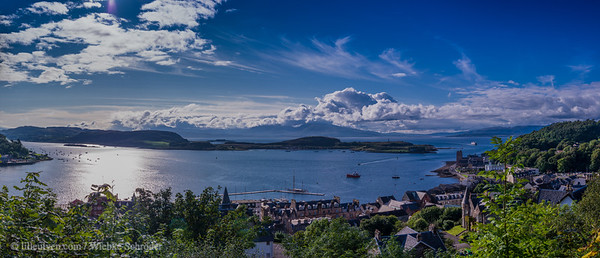 Overlooking Oban and Kerrera from McCraig's Tower - Panorama