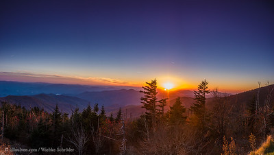 Clingmans Dome, Great Smoky Mountains National Park (Panorama)