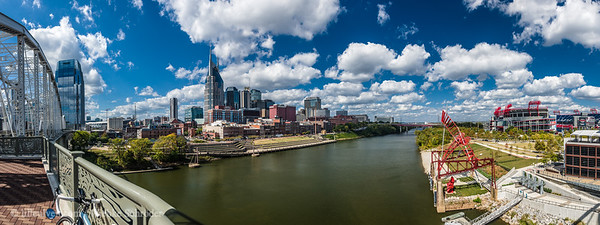 Downtown Nashville and the Cumberland River (Panorama)