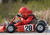 Intense young racers at the Hill Country Kart Club's bi-monthly races in New Braunfels, Texas