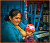 """MOTHER AND CHILD"" - LIMA, PERU ON NOVEMBER 13, 2011 AT A FARMER'S MARKET"