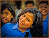 """""""SCHOOL CHILDREN"""" - LATE AFTERNOON DURING A WALK THROUGH THE STREETS OF LIMA, PERU ON NOVEMBER 12, 2011"""