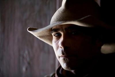 Cowboy in Sergio Leone's village - Tabernas desert, Spain