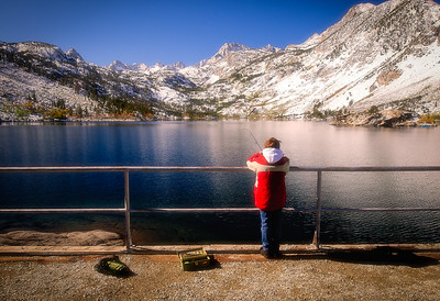 Young Fisherman - Lake Sabrina