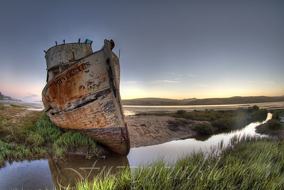 OK, so everybody takes this picture.  Sue me.  The abandoned Point Reyes in Inverness California.