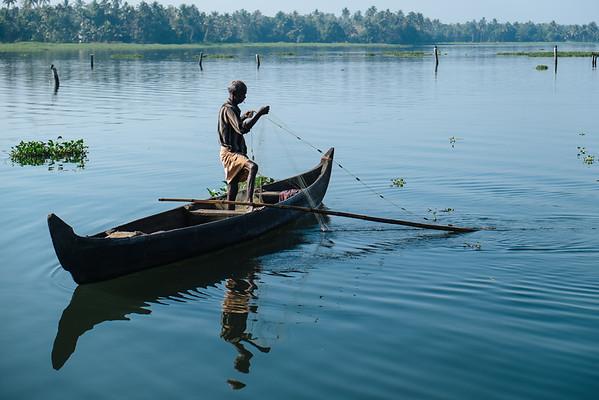 fisherman in Kumarakom