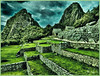 """THE AGRICULTURAL TERRACES OF MACHU PICCHU"" (HDR) - LATE AFTERNOON AT MACHU PICCHU IN PERU ON NOVEMBER 16, 2011"