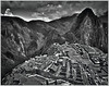 """MACHU PICCHU"" - IN BLACK AND WHITE (HDR) IN THE ANDES MOUNTAINS OF PERU"