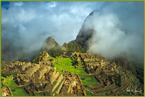 """MACHU PICCHU IN THE CLOUDS"" - IN THE ANDES MOUNTAINS OF PERU"