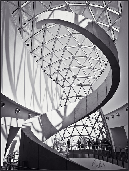 """SPIRAL HELIX"" - THE SPIRAL HELIX SCULPTURE AT THE DALI MUSEUM IN SAINT PETERSBURG, FLORIDA"