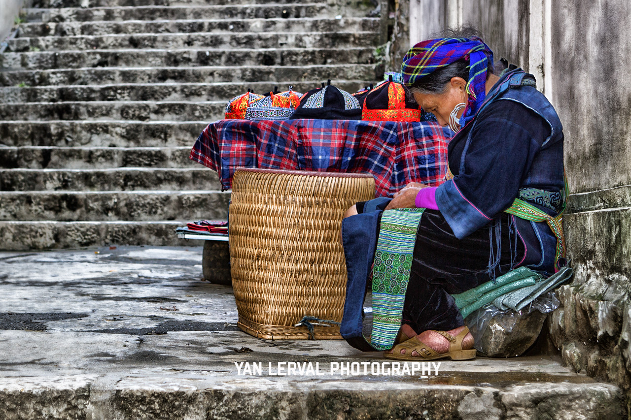 Embroidey in Sa Pa, Vietnam