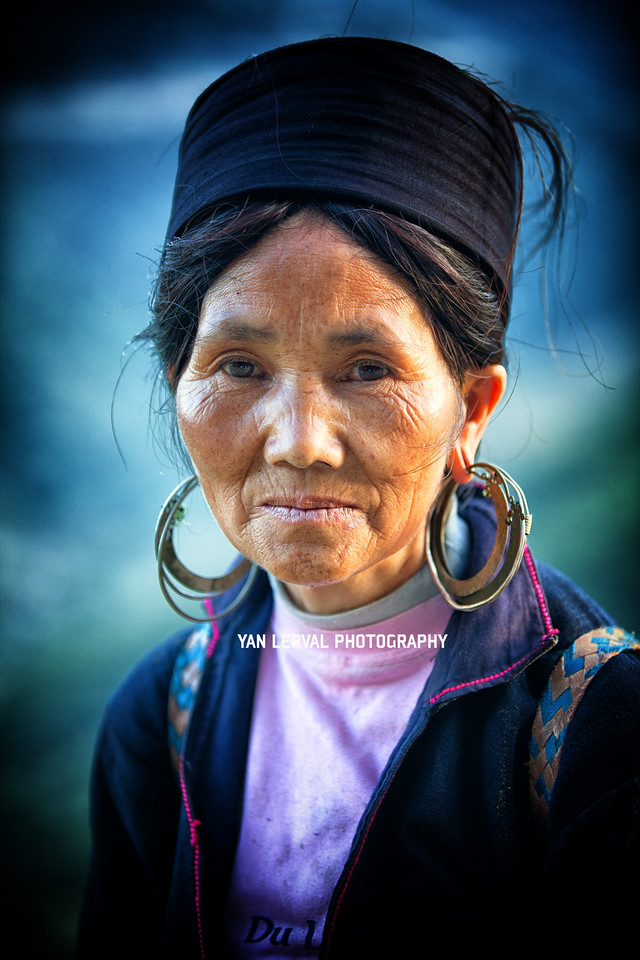 Black Hmong woman around Sa Pa area, Vietnam