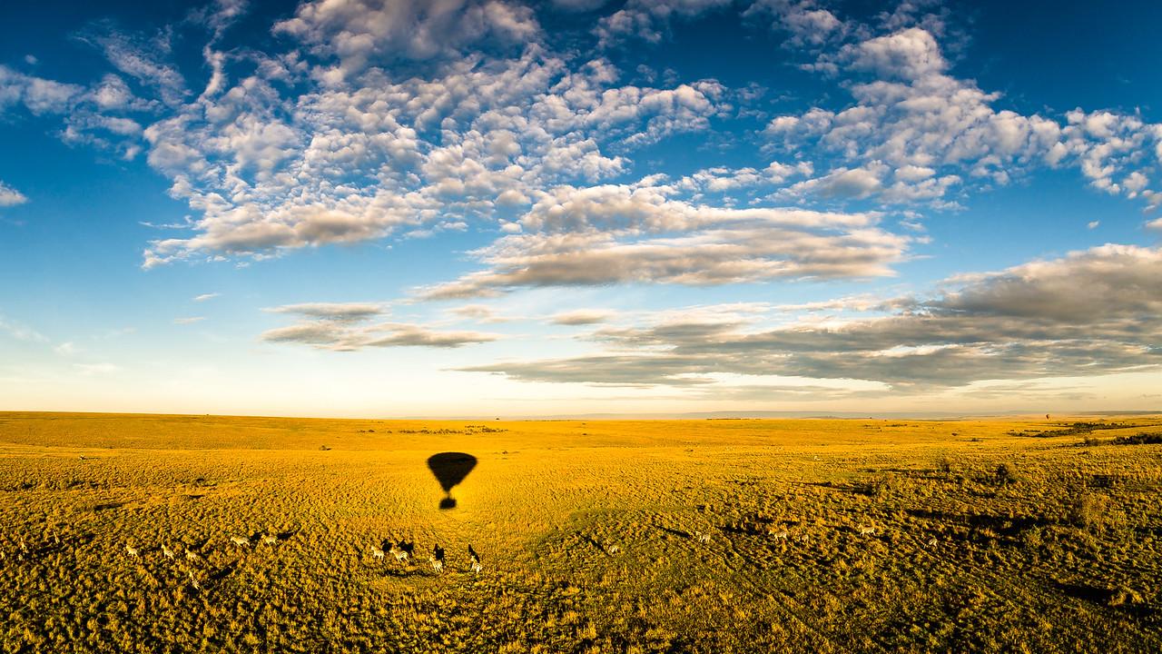 Sunrise balloon ride in the Masai Mara, Kenya