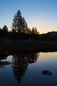 Buck Island Lake Sunrise Silhouette