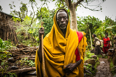 Elder of Omo Valley Tribe