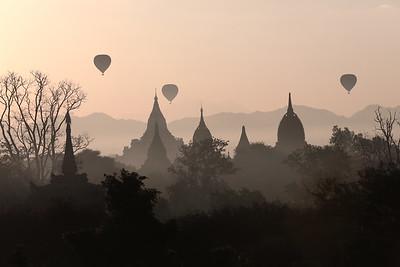 Balloons over Bagan I