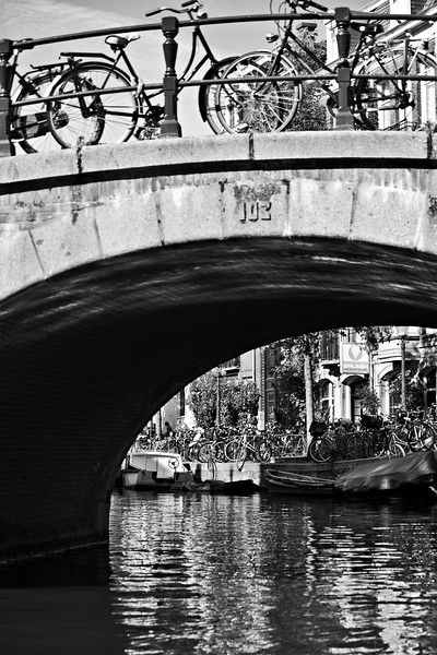 { bikes over canal }