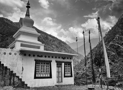 Stupa in Langtang Valley, Nepal
