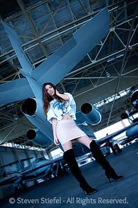 Fashion model Laura D'Orsi poses.
