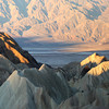 Zabrinski Point, Death Valley<br /> 6 photos stitched together in a Panorama using PhotoShop CS6