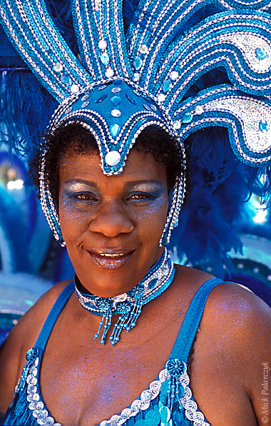 [ANTILLES.stMAARTEN 25.638] 'Carnival-4.'	 On St.Maarten, carnival is usually celebrated during the second half of April. This image was shot just outside Philipsburg during the preparations of the Grand Parade. Photo Mick Palarczyk.