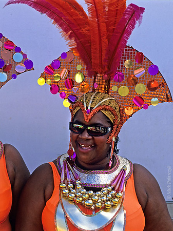 [ANTILLES.stMAARTEN 25.641] 'Carnival-6.'	 On St.Maarten, carnival is usually celebrated during the second half of April. This image was shot just outside Philipsburg during the preparations of the Grand Parade. Photo Mick Palarczyk.