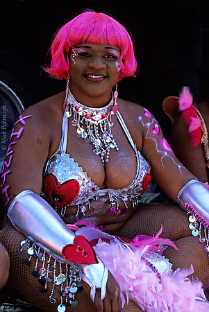 [ANTILLES.stMAARTEN 25.647] 'Carnival-10.'	 On St.Maarten, carnival is usually celebrated during the second half of April. This image was shot just outside Philipsburg during the preparations of the Grand Parade. Photo Mick Palarczyk.